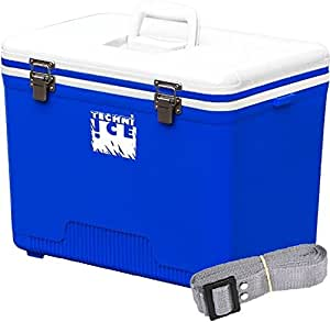Techni Ice Compact Series Ice Box/Esky 28L, Ice Lasts up to 3 Days, White/Blue