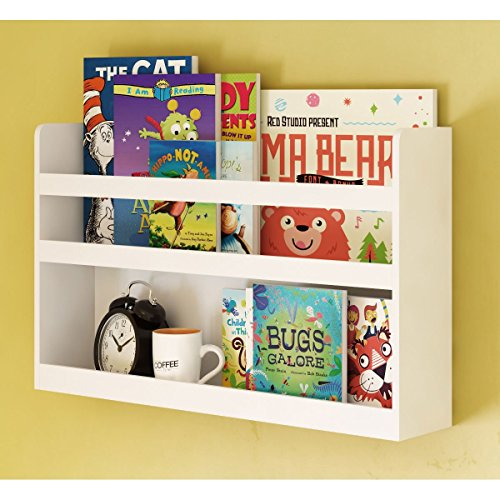 Childrenu0027s Kids Room Wall Shelf Wood Material Great For Bunk Bed Nursery Room Books and Toys Organization Storage (White)  sc 1 st  Amazon.com & Nursery Wall Storage: Amazon.com