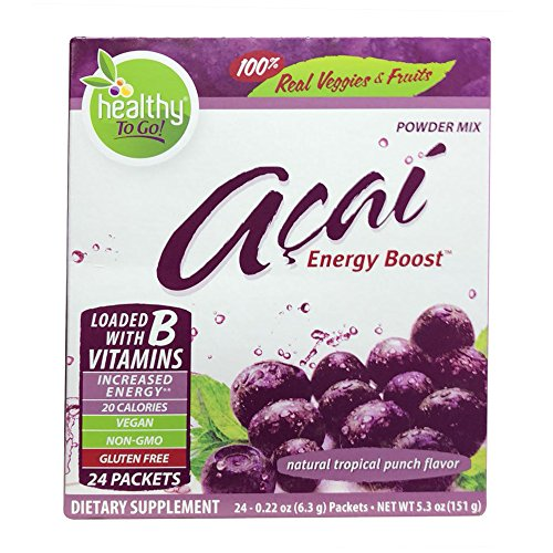 To Go Brands Acai Natural Energy Boost, Tropical Punch, .22 oz(pack of 2)
