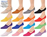 All Sixteen Colors World's Finest Italian No-Show Sized Cotton Loafer Socks - L/X
