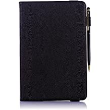 """ProCase Universal Folio Case for 7 - 8 inch Tablet, Stand Case Cover with Stand for 7"""" 8"""" Tablet, Dragon Touch, Chromo Inc, ProntoTec, NeuTab, Nextbook, Tagital, iRulu, RCA, iView Black"""