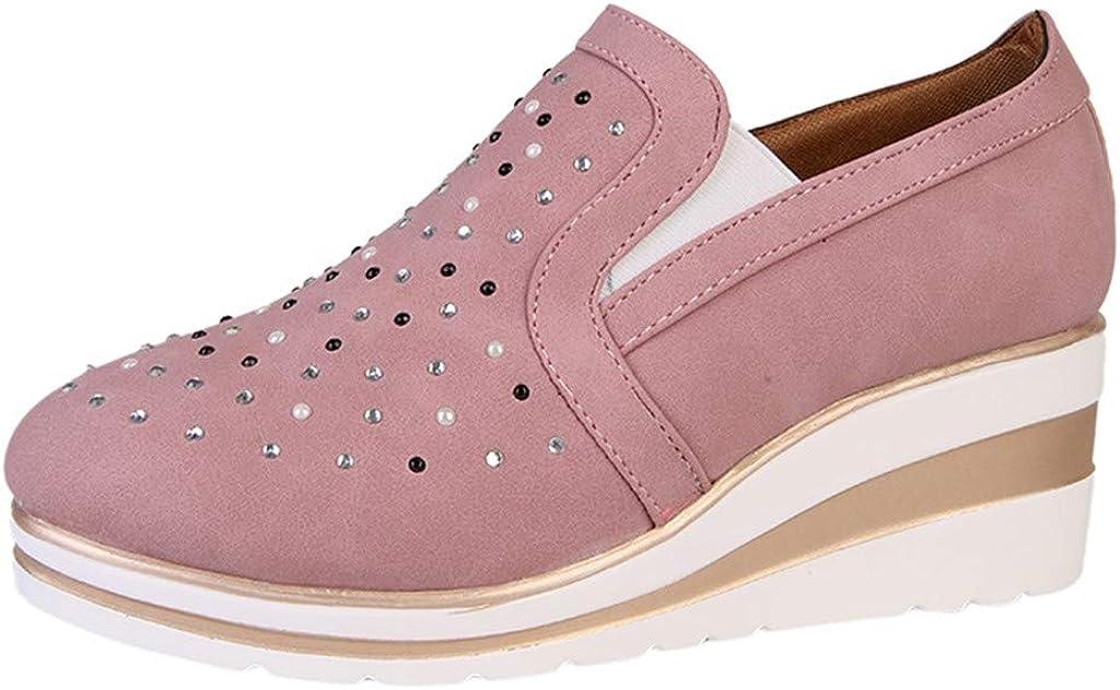 Luckycat Deportivo Piel Plataforma Mujer Zapatos Planos con Cordones Mujer Brogue Zapato Mujer Mocasines Plataforma Casual Loafers Primavera Verano Zapatos de Cuña 5cm 6 cm Tallas Grandes Botas: Amazon.es: Relojes