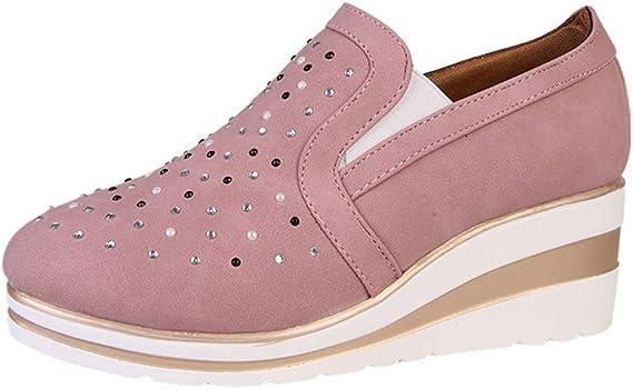 Luckycat Deportivo Piel Plataforma Mujer Zapatos Planos con