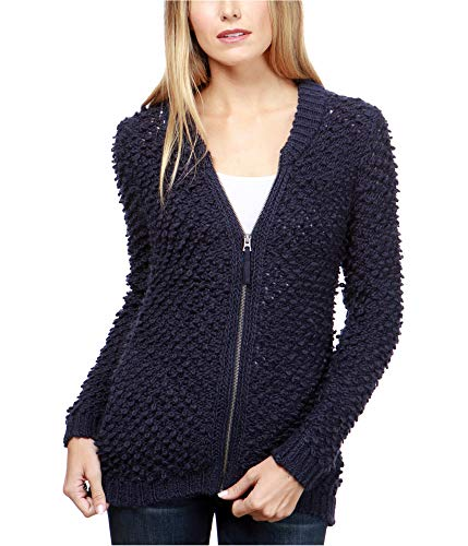 Lucky Brand Women's Sweater Bomber Sweater American Navy X-Large