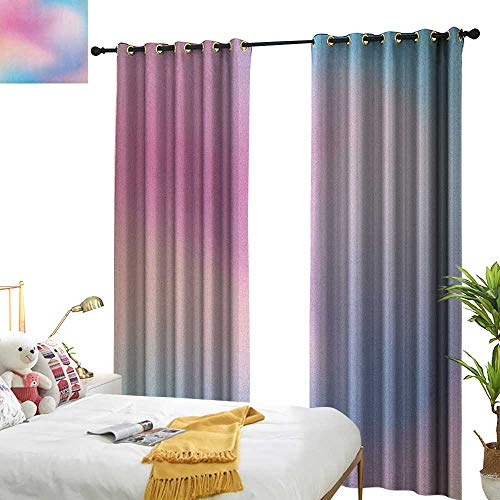 WinfreyDecor Sliding Curtains Pastel Abstract Blurry Colors Composition Sweet Daydream Fantasy Miscellaneous Home Garden Bedroom Outdoor Indoor Wall Decorations W108 x L96 Pink Aqua Peach White