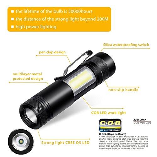 Portable Mini LED Flashlight Ultra Bright 500 Lumens Handheld Light, Waterproof Flashlight, CREE LED - http://coolthings.us