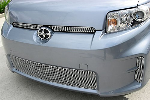 (GrillCraft TOY1856S MX Series Grille Lower Insert 3 pcs. Steel Mesh Pattern. Silver Powder Coat Top Finish MX Series Grille Lower Insert)