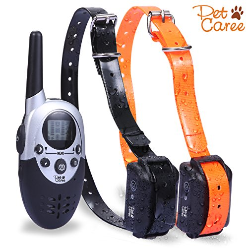 Dog Training Collar, Training Shock Collar With Remote 1100 Yard Electronic Shock Dog Collar For 2 Dogs by...