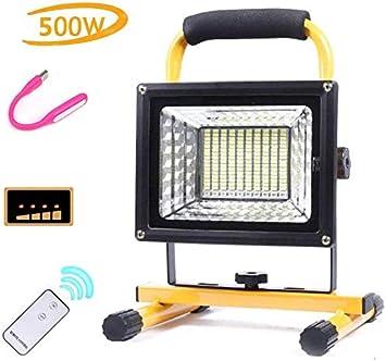 Luz de trabajo LED para acampar de 500 vatios y 8000 lúmenes ...