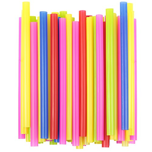 EXTRA LARGE Milkshake Straws 1/2 Inch Wide 8 1/2 Inch Long (100)