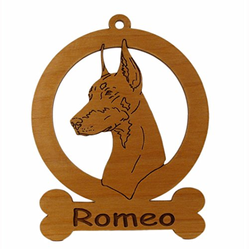 Doberman Head Ornament 083075 Personalized With Your Dog's Name ()