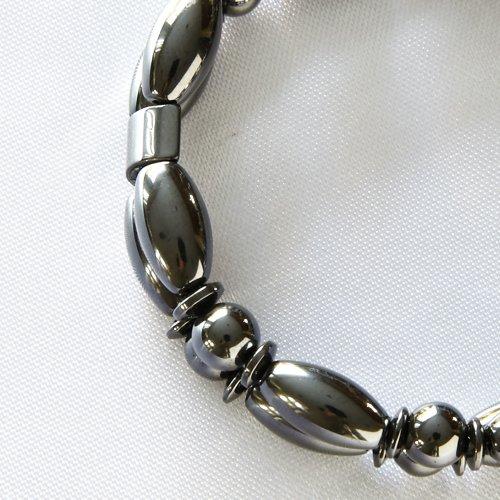 Harrowden Magnetite Magnetic Bracelet - Double Strand - Black, 7IN ()