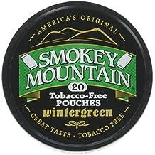 Smokey Mountain Herbal Snuff/Chew - Wintergreen Pouches Single Can