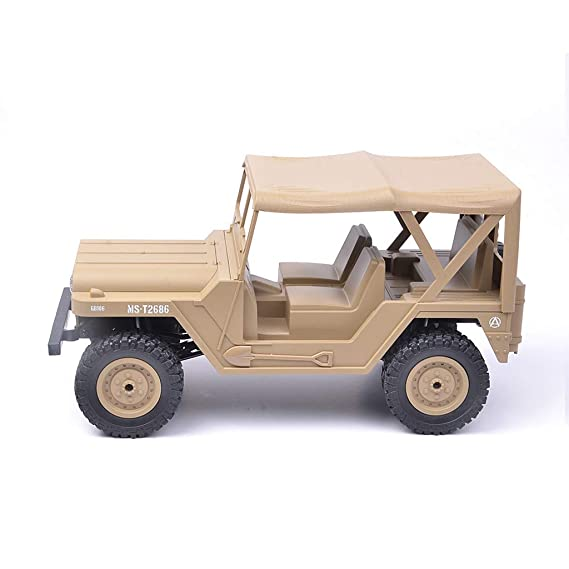 Amazon.com: LtrottedJ 1:14 Scale RC Car 4D Off Road Vehicle 2.4G Radio Remote Control Car (Khaki): Toys & Games