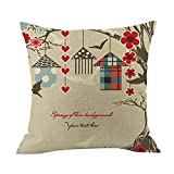 Cyhulu Kawaii 18x18 Inch Quote Throw Creative Cartoon Heart Print Square Pillow Case Cushion Cover Lover Gifts for Happy Valentine's Day Home Bed Sofa Living Room DIY Decoration (G, One size)
