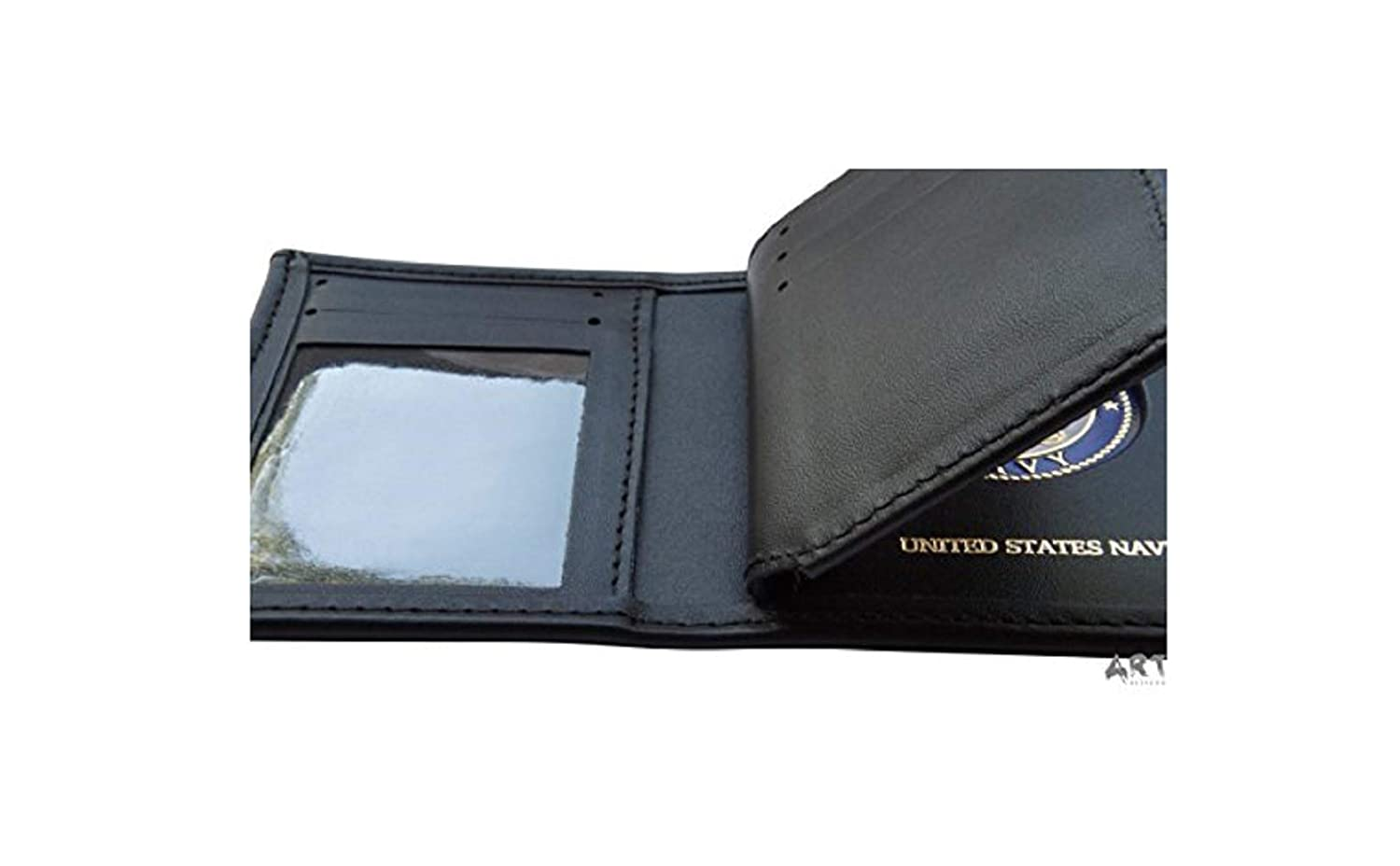 Concealed Logo Premium US Made Made in USA Black Genuine Leather WALLET