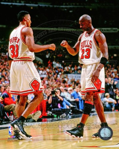 Chicago Bulls Poster Team - NBA Michael Jordan and Scottie Pippen Chicago Bulls 1998 Action Photo 8x10