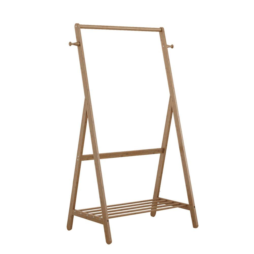 Solid Wood Coat Racks European Style Simple Bamboo Home Multifunction The Shelves Of Clothes Hangers Landing Width 50cm/60cm/70cm/80cm/90cm ( Size : 90cm )
