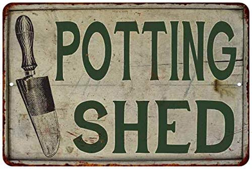 Amazon Com Potting Shed Sign Garden Signs Gardening Vintage Decor