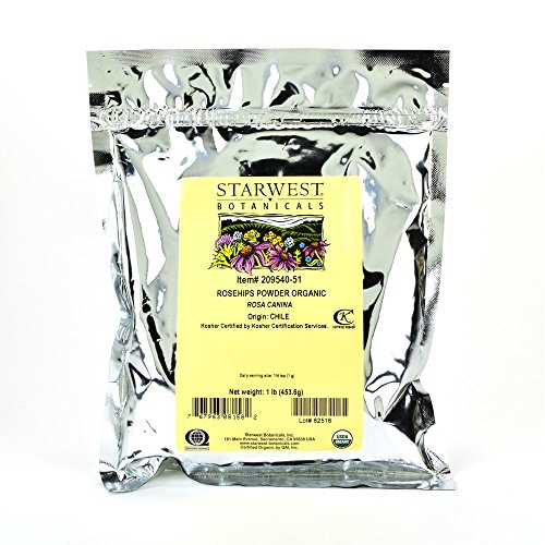 Starwest Botanicals Organic Rosehips Powder, 1 Pound (Rose Health Hips)