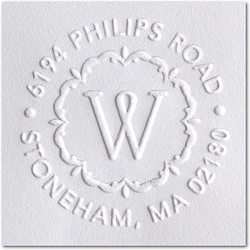 Custom Embosser Seal Shiny EZ-Seal Round Decorative Personalized Custom  Address Embosser With Name, Design Embosser- Hand Held Style- 1