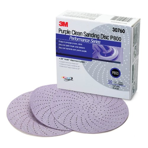 3M 30760 Hookit 334U Purple 6'' P800 Grit Clean Sanding Disc (Pack of 4) by 3M (Image #1)