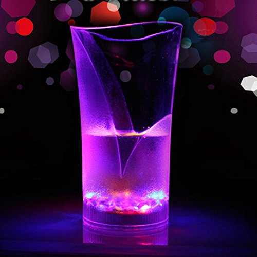 FastEngle X'MAX Hallowmas Flashing LED Light Sensor Cup Drink Mug Barware Party Holiday Wedding Club Use