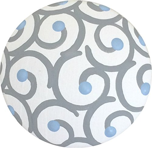 amazon com hand painted grey and baby blue swirl polka dot knobs rh amazon com Ceramic Cabinet Knobs Colorful Ceramic Cabinet Knobs