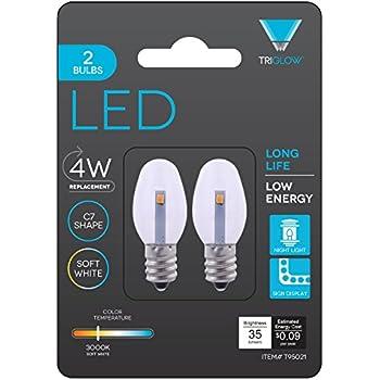Triangle Bulbs T95021-2 (2 pack) - 0.5-Watt C7 LED Night Light Bulb, Clear, 2-Pack