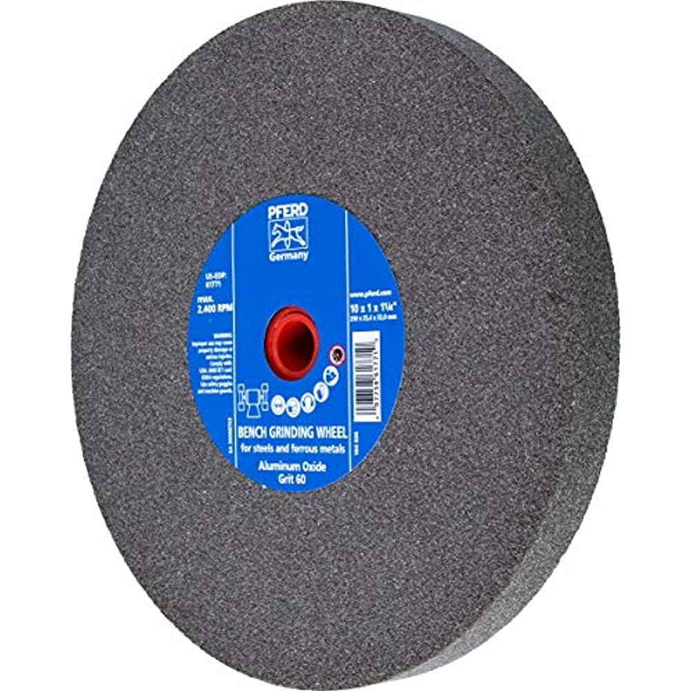 """MG 5/"""" Type 1 Aluminum Oxide Grinding Wheel 1//2/"""" Thick 6NW95, 1/"""" Arbor"""