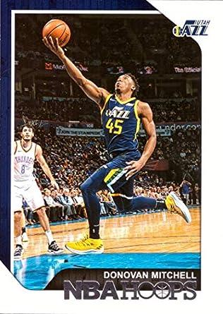 Amazon.com  2018-19 Panini NBA Hoops  90 Donovan Mitchell Utah Jazz ... b52c33bb1