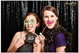 ShinyBeauty Photo Booth Backdrop Best Choice-4FTx6FT- Sequin Photobooth Backdrop for Weddings and Events, Wedding Decoration Fabric, Sparkle Curtain for Backdrop (4FTx6FT, Black)