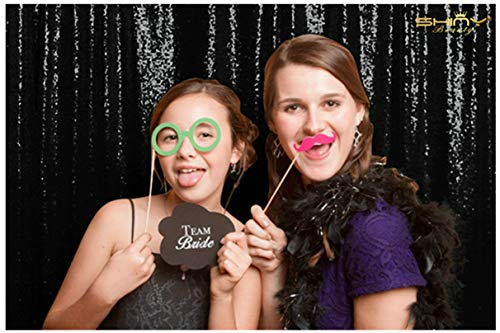 4FTx8FT,Ready to Dispatch,Black Sequin Backdrops,Sequin Photo Booth Backdrop,Sparkling Photography Prop