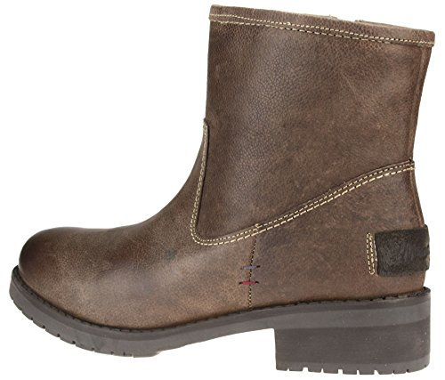 Brown 7 Ankle 3 Leather Boots Black Real 6 Zip Fleece Brown Wrangler 8 Up Size 5 Ladies 4 1IxwUqdxZ