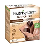 Nutrisystem NutriCRUSH Chocolate Shake Mix, 20 Count, Now with 50% More Protein