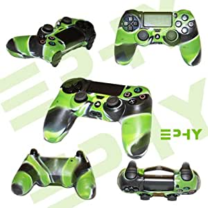 Brand New Camouflage Silicone Protection Rubber Bumper Cover Case Skin for Sony PS4 PS Playstation 4 Dual Shock Controller (Green Camo)