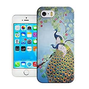 BreathePattern-013.Peacock Painting Plastic Protective Case-Apple iPhone 5 case