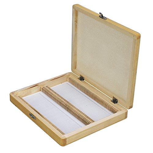 - Microscope Slide Wooden Box Holding 100 Piece Slides