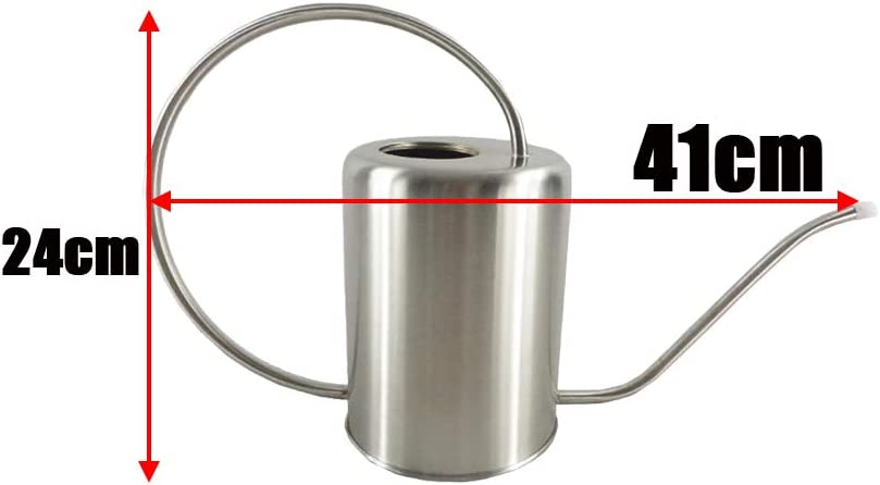 FutuHome Gie/ßkanne aus Edelstahl 2000 ml