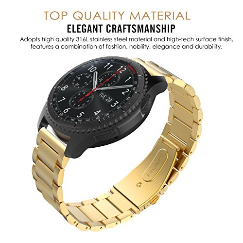 gear s3 watch band moko stainless steel metal replacement smart watch strap bracelet for. Black Bedroom Furniture Sets. Home Design Ideas