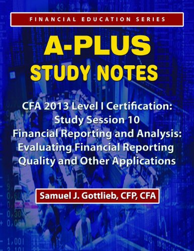 APSN CFA 2013 Level 1 Study Session Financial Statement Reporting and Analysis