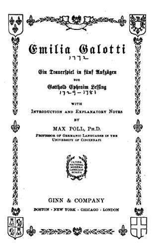 Ebook download galotti emilia