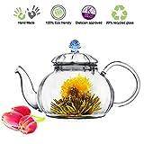 Glass Teapot No Drip Special Lead Free Glass (20 oz Blue Juliet)