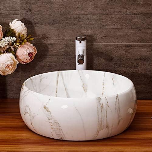 DS- バスルームの洗面台、セラミック上記カウンタ(タップなし)流域バニティ技術流域単一流域、41X41X15cm 洗面ボール && (Size : 41X41X15cm)