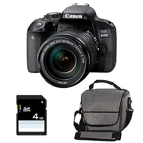CANON EOS 800D + 18-135 IS STM + Sac + SD 4Go: Amazon.es: Electrónica