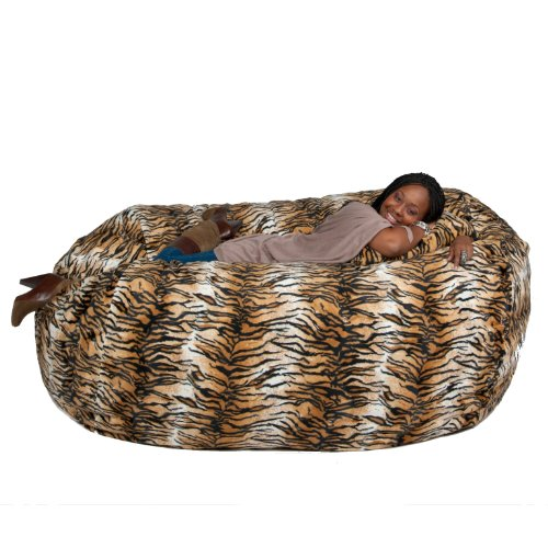 Cozy Sack 6-Feet Bean Bag Chair, Large, Tiger Print