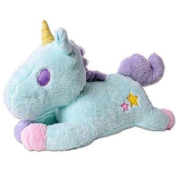 te-trend Baby Peluche unicornio unicorn 50cm Peluche ayuda para dormir con LED