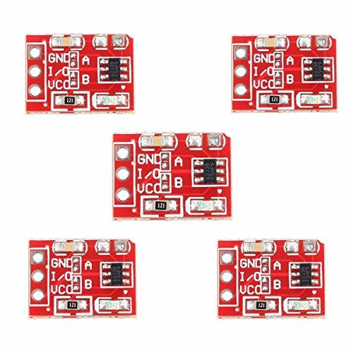 ARCELI 5Pcs 2.5-5.5V TTP223 Capacitive Touch Switch Button Self-Lock Module Arduino