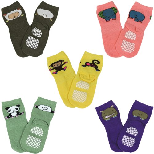 Wrapables Animal Non Skid Baby Socks