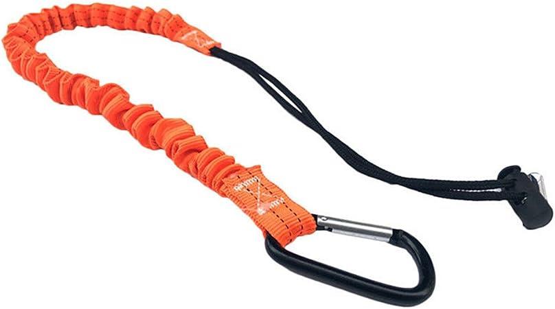 UxradG Cuerda de Seguridad para Escalada, cordón retráctil telescópico elástico Herramienta de Escalada con mosquetón